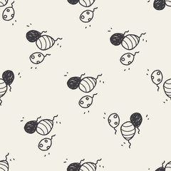 doodle balloon seamless pattern background