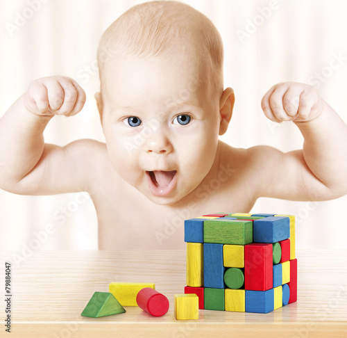 Smart Baby Playing Toy Blocks, Kids Early Development - 79884047