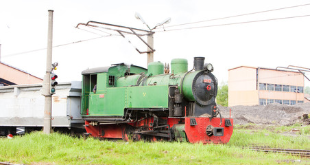 steam freight train, Kolubara, Serbia