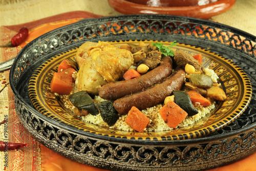 Deurstickers Klaar gerecht couscous