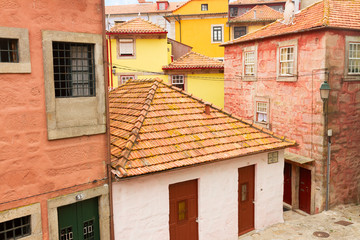 colorful houses in old town, Porto