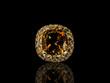 Orange precious stone jewel - 79886851