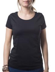 female black shirt template