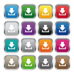 Download metallic square buttons