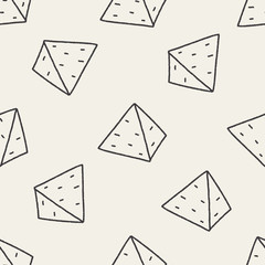 doodle pyramid seamless pattern background