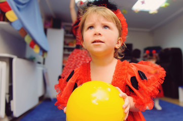 Girl with Yellow Balloon