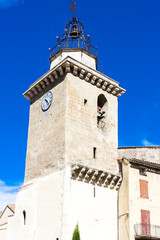 bell tower of Saint Vincent Church, Nyons, Rhone-Alpes, France