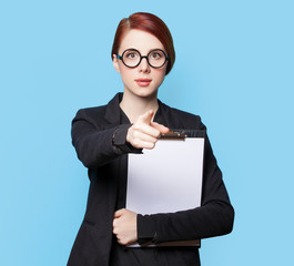 Portrait of surprised business women in glasses