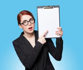 Portrait of surprised business women