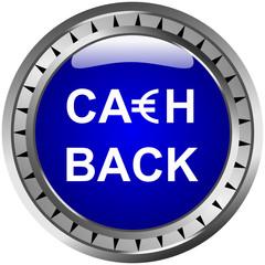 Cashback Button Blau Euro
