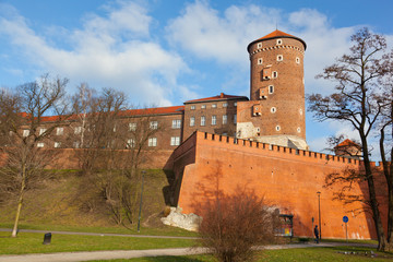View of the Wawel castle in Krakow, Poland