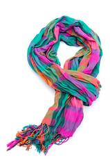 Female scarf isolated on white background