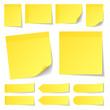 Stick Notes Set Yellow