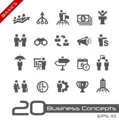 Business Concepts Icon Set -- Basics