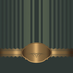 Decorative background with gold patterns.