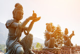 Buddhist statues praising and making offerings to the Tian Tan B - Fine Art prints