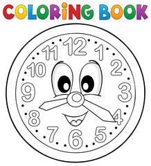 Coloring book clock theme 2