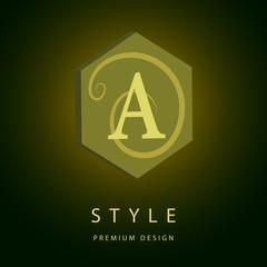Monogram design elements, graceful template.