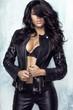 Sensual woman in jacket - 79891450