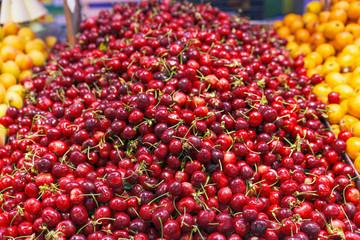 Red Cherries on market