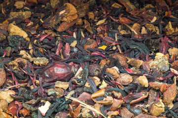 Dried organic tea mix
