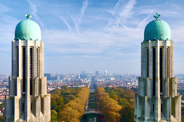 Brussels - a view from National Basilica of the Sacred Heart