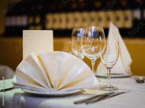 Leinwanddruck Bild tisch im Restaurant