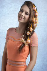 girl with easter hair-style