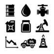 Oil Icons Set - 79895003