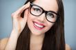 Beautiful woman wearing glasses