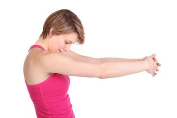 Dehnung oberer Rücken Schulter