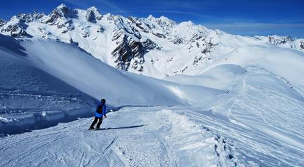 Skieur de dos