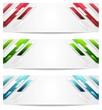 Hi-tech geometric abstract banners