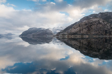 Lysefjord in Winter