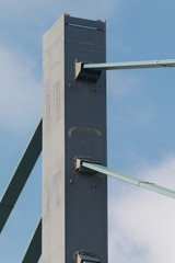 Steel bridge pylon
