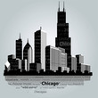 Vector. Chicago silhouette. - 79896660