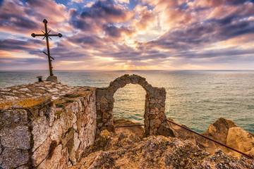 Beautiful dramatic sunrise at cape Kaliakra, Black Sea, Bulgaria