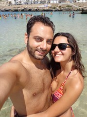 Selfie in spiaggia