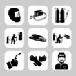 Vector welding related icon set - 79897686
