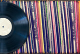 Vinyl record with copy space, vintage process - 79897624