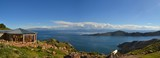 View of Lake Titicaca between Bolivia and Peru