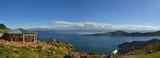 View of Lake Titicaca between Bolivia and Peru