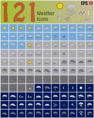 121 Weather Icons