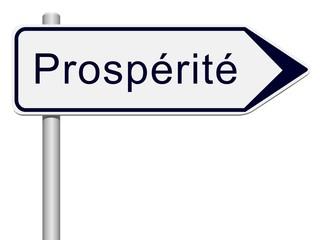 Panneau indicateur prospérité