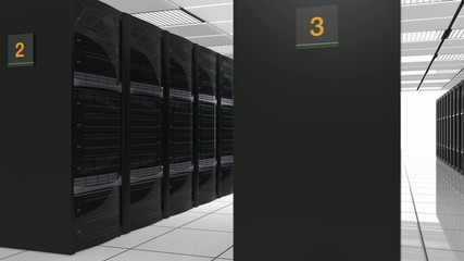 Animation of blade server system