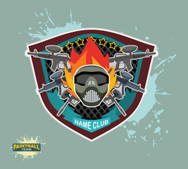 paintball logo.  paintball guns. Evil paintball mask