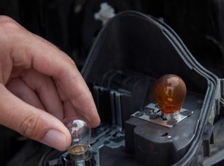 changing light bulbs car