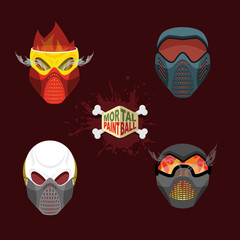 set paintball evil  mask. skull Mortal paintball