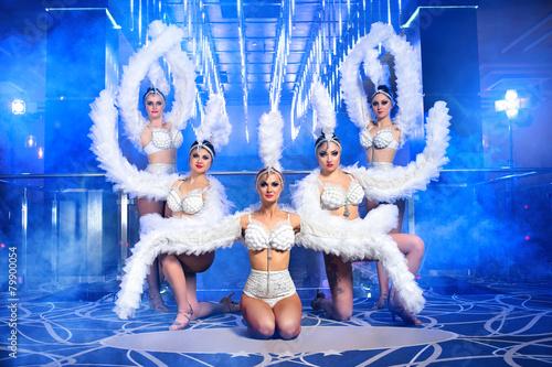 Aluminium Dans dance group sexy girls in costumes, nightclub
