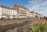 Embankment of river Vilaine in Rennes